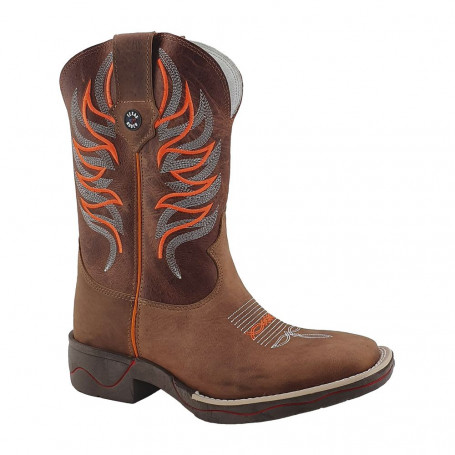 Bota Masculina Bico Quadrado cor Sella Texas Boots 10005