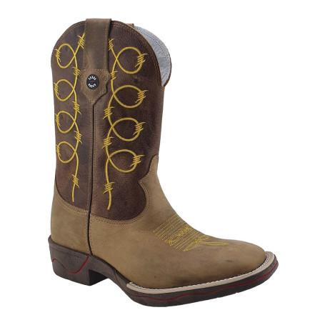 Bota Masculina Bico Quadrado cor Mostarda Texas Boots 10007