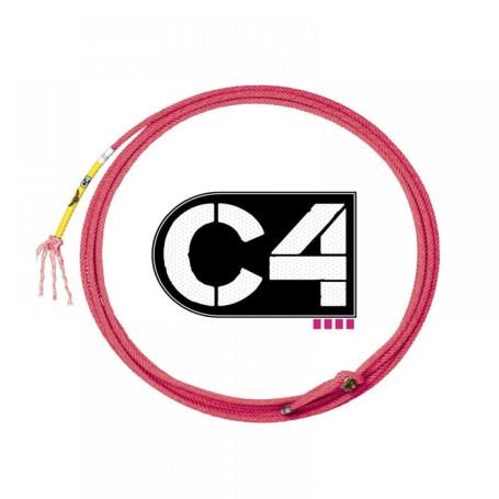 Corda para Laço em Dupla Team Roping 4 Tentos Vermelho C4 1065