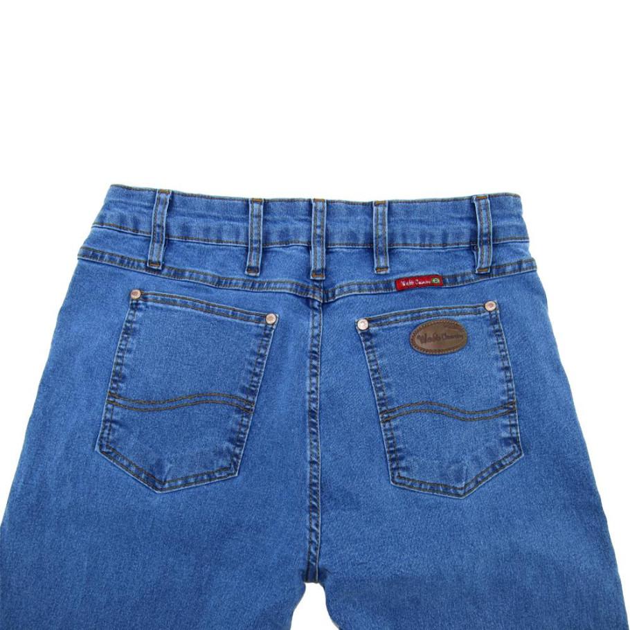 9e80b5be63a7ae Calça Jeans Masculina Azul Médio com Elastano West Country 1161 ...