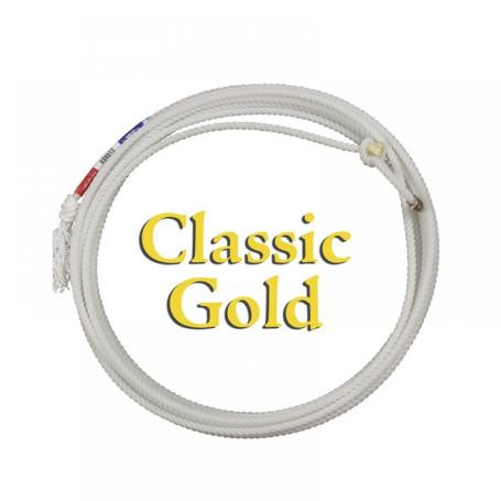 Corda para Laço em Dupla Team Roping 3 Tentos Branco Gold Classic 1237