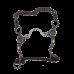 Freio para Cavalo Maluco RB Antique Ported Chain Bit 250003 Level 3 Metalab Partrade 1291