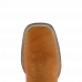 Bota Masculina Western Bico Quadrado Conhaque com Cano Canela Avestruz Lisa Jácomo 3250
