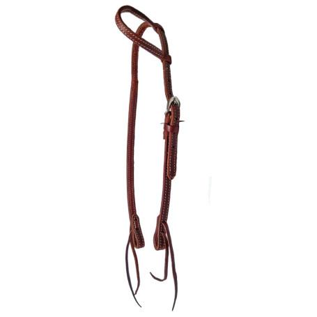 Cabeçada Equitech Com Uma Orelha Simples Costurada Ref 10362 Cod 3413