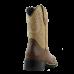 Bota Unissex Western Bico Redondo Chocolate Cano Areia Passo Livre - Nashville 424