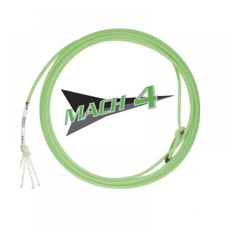 Corda para Laço em Dupla Team Roping 4 Tentos Verde Mach 4 Fast Back 4393