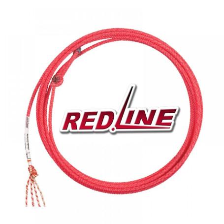 Corda para Laço em Dupla Team Roping 4 Tentos Vermelho Red Line Fast Back 4393