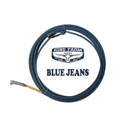Corda para Laço em Dupla Team Roping 4 Tentos Azul King Farm Blue Jeans Precision 4438