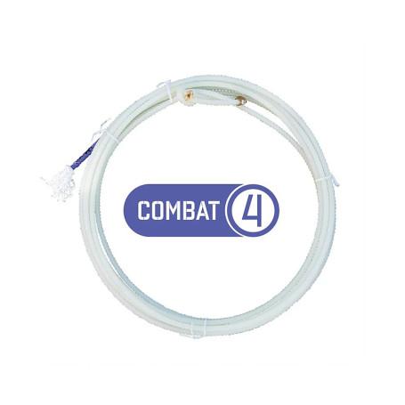 Corda para Laço em Dupla Team Roping 4 Tentos Branco Combat Precision 4438