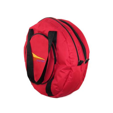 Sacola de Nylon para Laço Team Roping Vermelha com Bolso Duplo Fast Back 4901