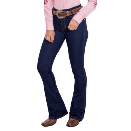 Calça Jeans Feminina Azul Amaciada Flare West Country 5187