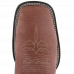 Bota Masculina Western Bico Quadrado Almondega com Sella Avestruz Lisa Jácomo 8426