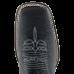 Bota Masculina Western Bico Quadrado Preto com Tabaco Avestruz Lisa Jácomo 8426