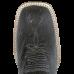 Bota Masculina Western Bico Quadrado Cinza com Preto cano Fossil Oil Preto Avestruz Lisa Jácomo 8434