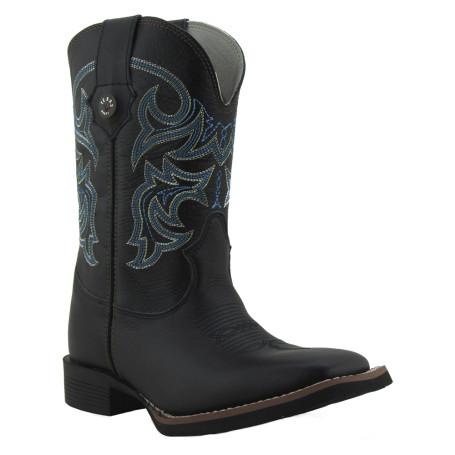 Bota Masculina Western Bico Quadrado Preto Texas Boots 8907